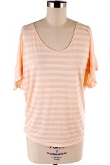 Peach Dolman Top $18