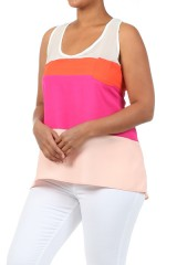 *Plus Size* Peach Tank $22